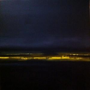 Avond, 2012, 80 x 80 cm, olieverf op doek