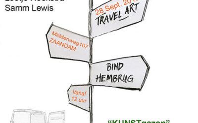 Kunstgazon/travelart op het Hembrugterrein bij Bind, 28 sept